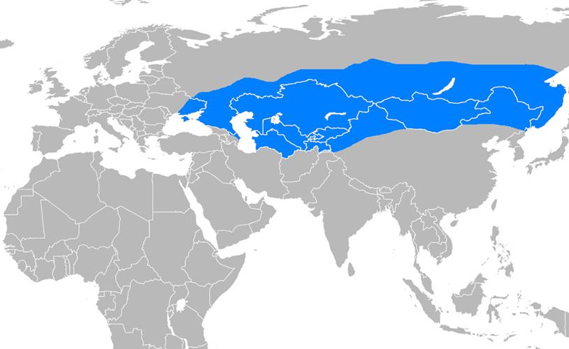 Göktürk İmparatorluğu Haritası - www.turkosfer.com