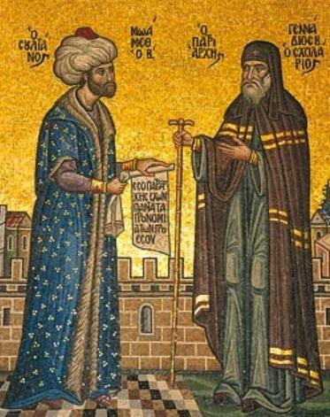 Fatih ve Gennadius II - www.turkosfer.com