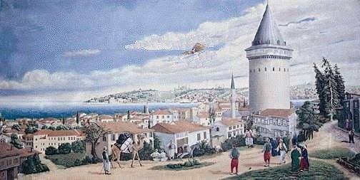 Hezarfen Ahmed Çelebi'nin Uçuş Denemesi - www.turkosfer.com