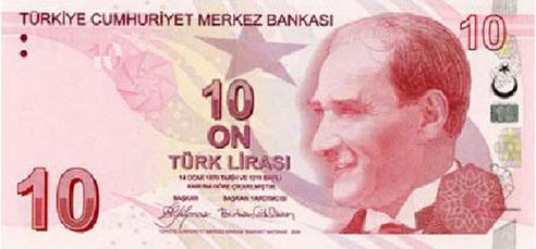 10 TL Ön Taraf - www.turkosfer.com