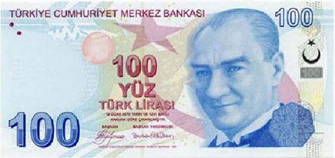 100 TL Ön Taraf - www.turkosfer.com