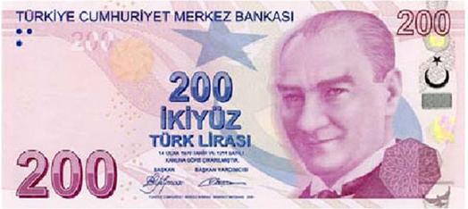 200 TL Ön Taraf - www.turkosfer.com