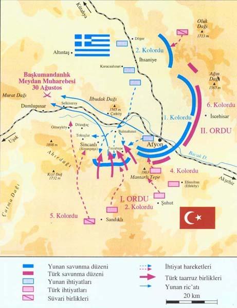 Büyük Taarruz Harita - www.turkosfer.com