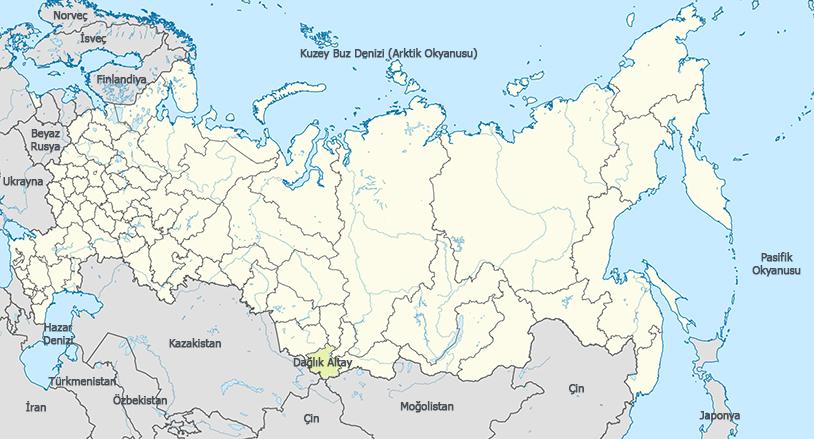 Dağlık Altay Haritası - www.turkosfer.com