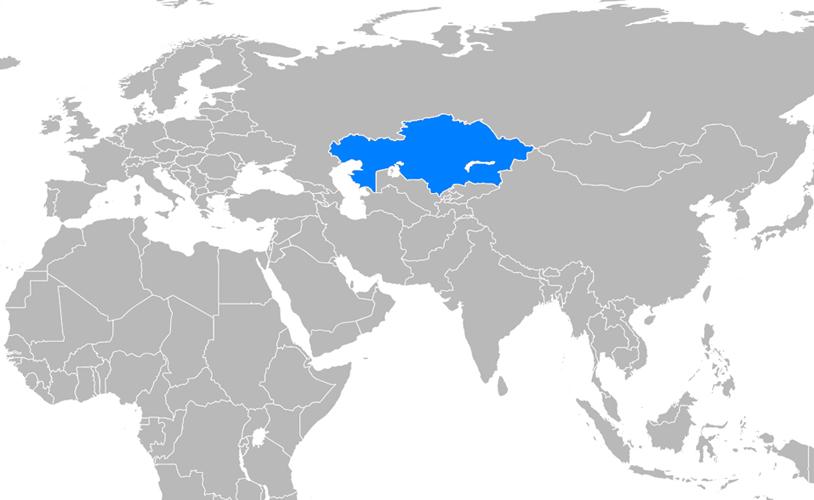 Kazakistan Haritası - www.turkosfer.com