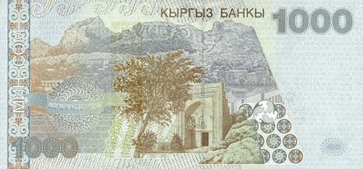 Kırgızistan Parası (Som) Arka Taraf - www.turkosfer.com