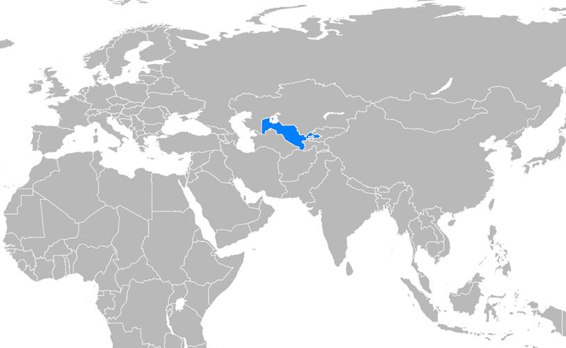 Özbekistan Haritası - www.turkosfer.com
