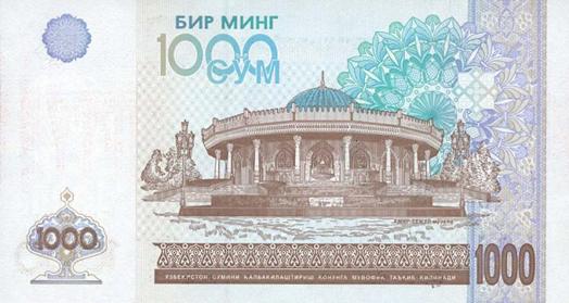 Özbekistan Parası (Som) Arka Taraf - www.turkosfer.com