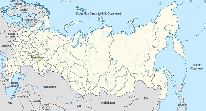 Tataristan Haritası - www.turkosfer.com