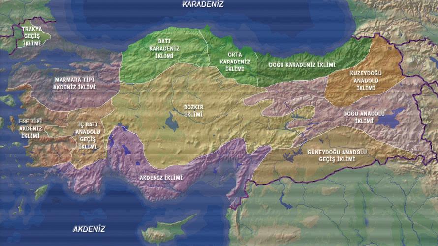 Türkiye İklim Haritası - www.turkosfer.com