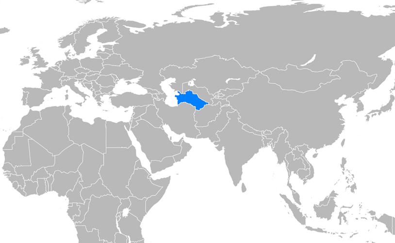 Türkmenistan Haritası - www.turkosfer.com